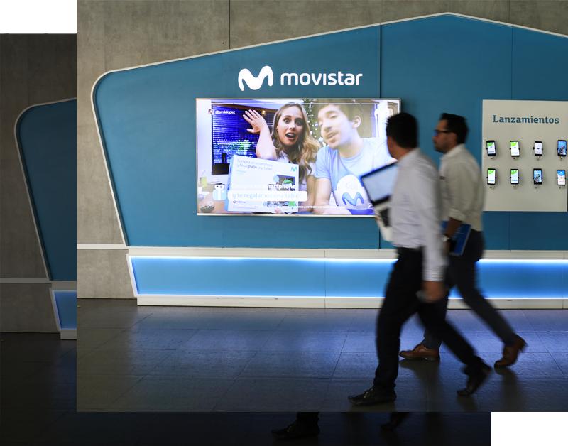 movistar digital signage